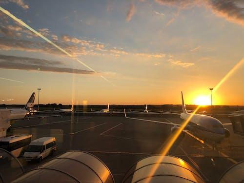 Ilmainen kuvapankkikuva tunnisteilla aurinko, ilma, klm, lentokenttä