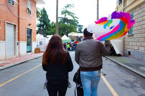 Foto d'estoc gratuïta de Dia del Pare, família, globus, unicorn
