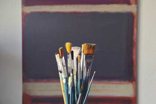 Blue Paint Brush Set