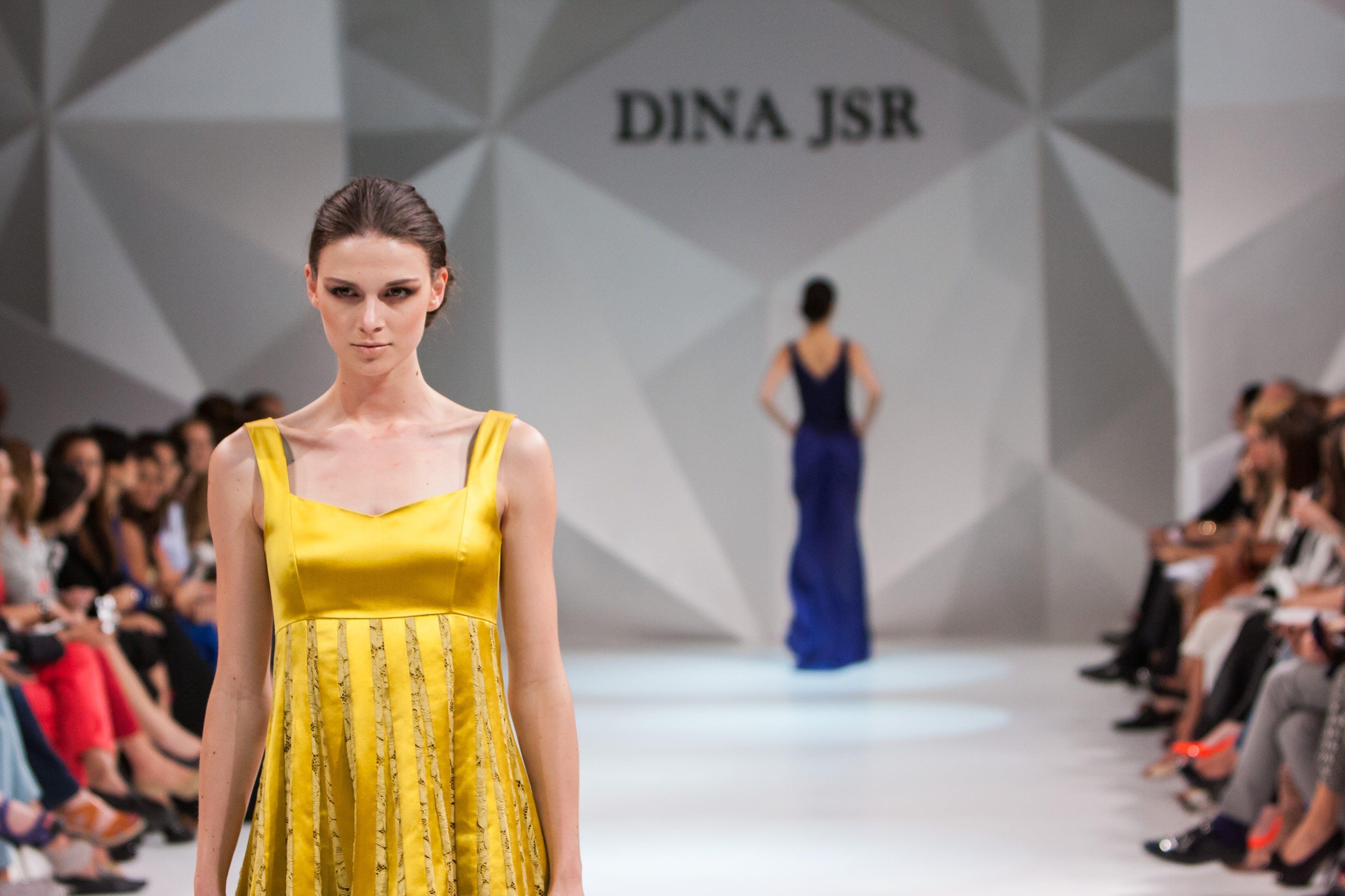 Women Walking on Catwalk on Dina Jsr Modeling