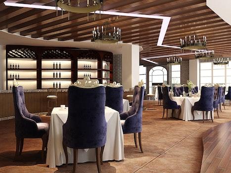 Kostenloses Stock Foto zu restaurant, hotel, lila, architektur