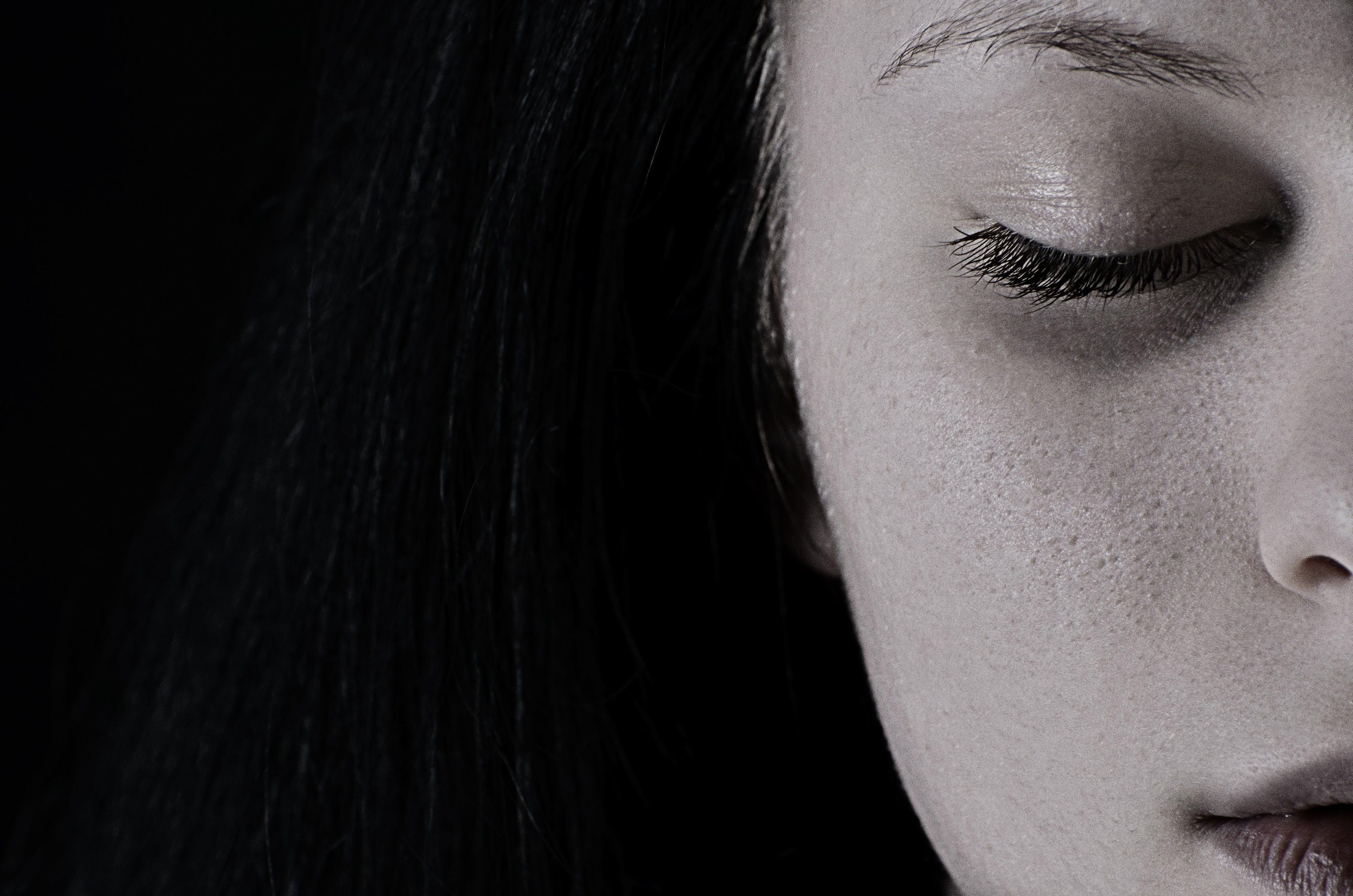 depresja, dziewczyna, smutek