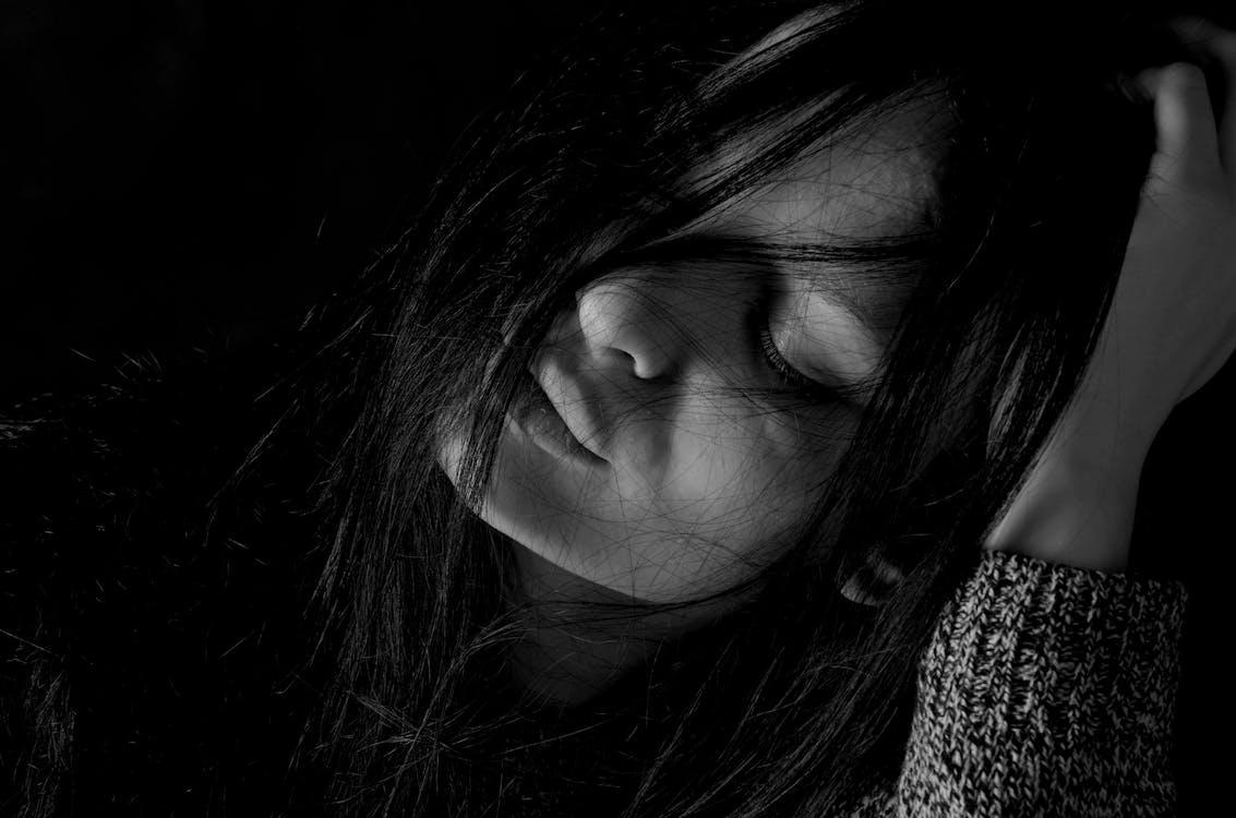 depression, girl, hair
