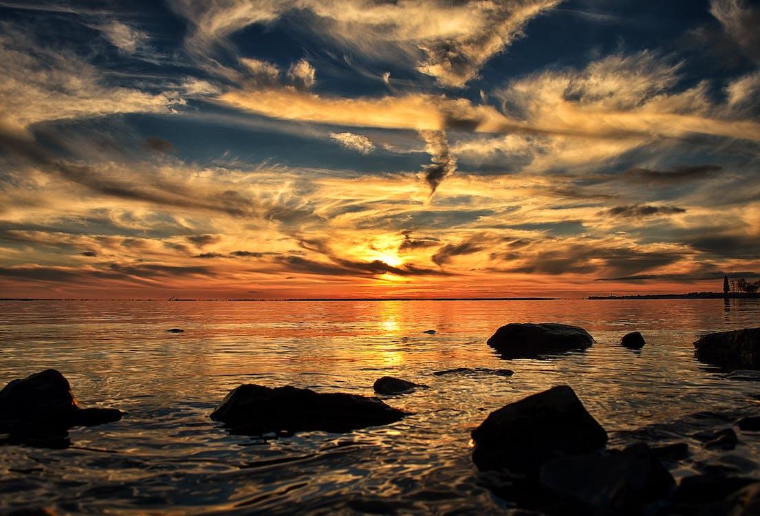 вода, восход, живописный