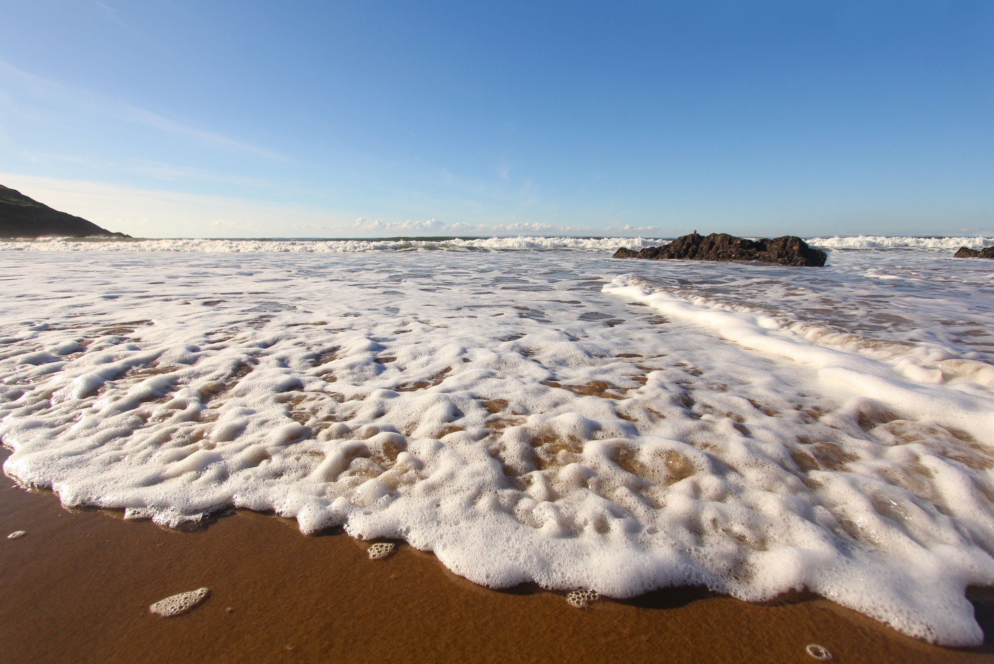 Free stock photo of beach, ocean, coast, Wales