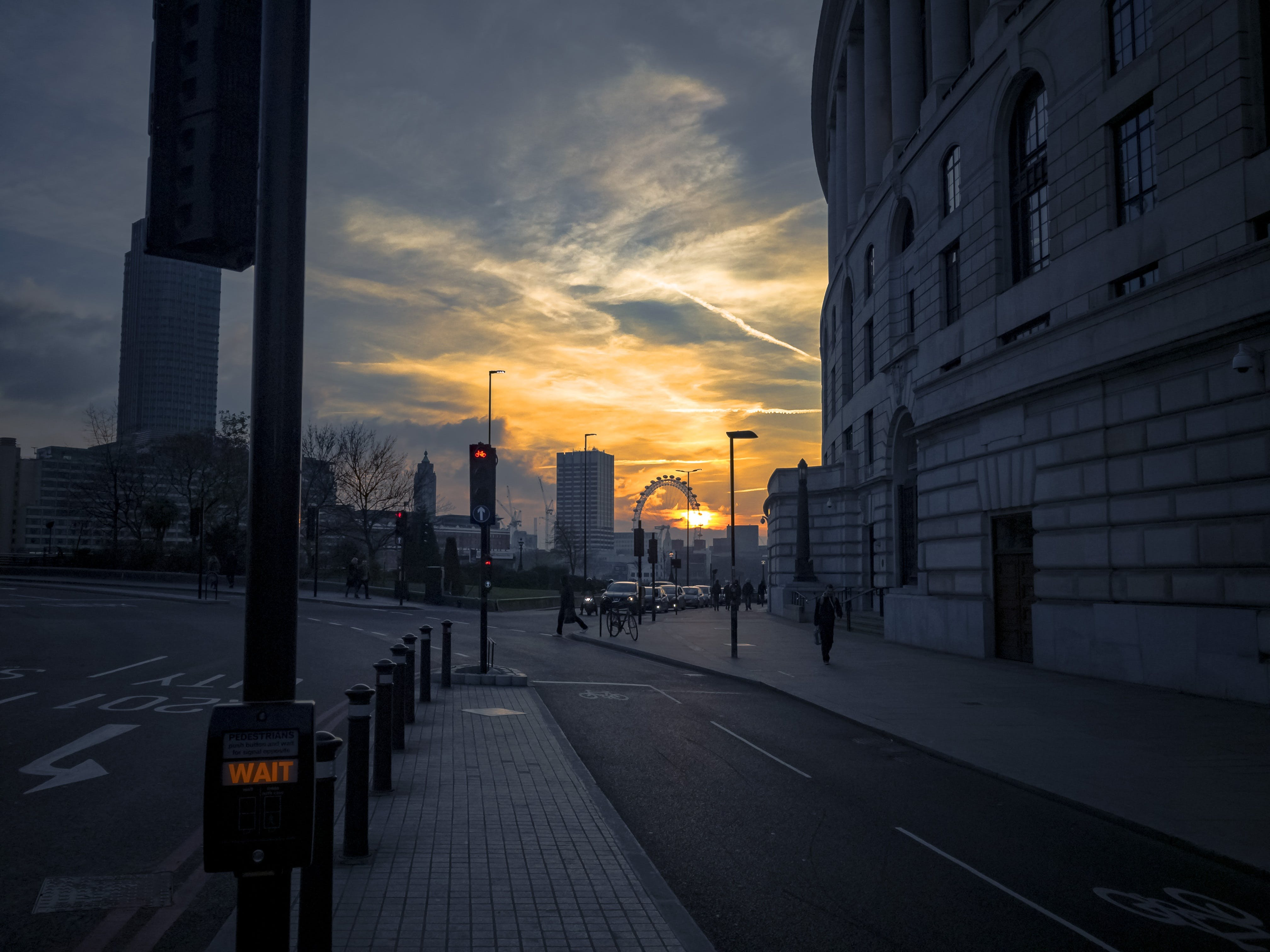 Free stock photo of light, city, road, dawn