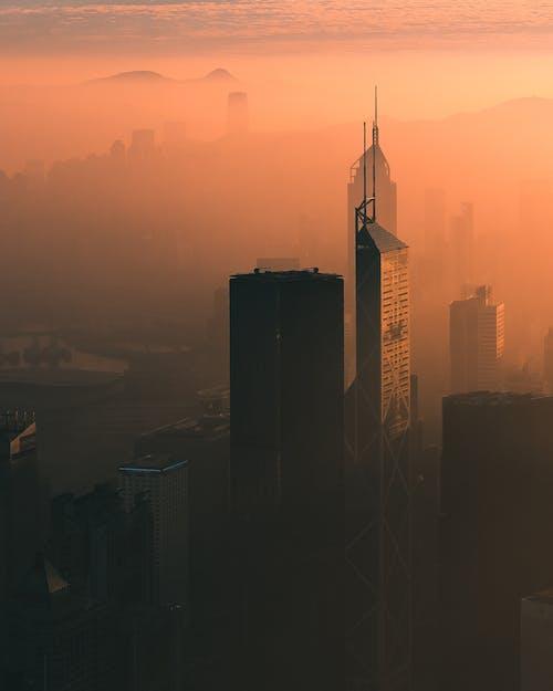 剪影, 城市, 市中心, 日出 的 免費圖庫相片
