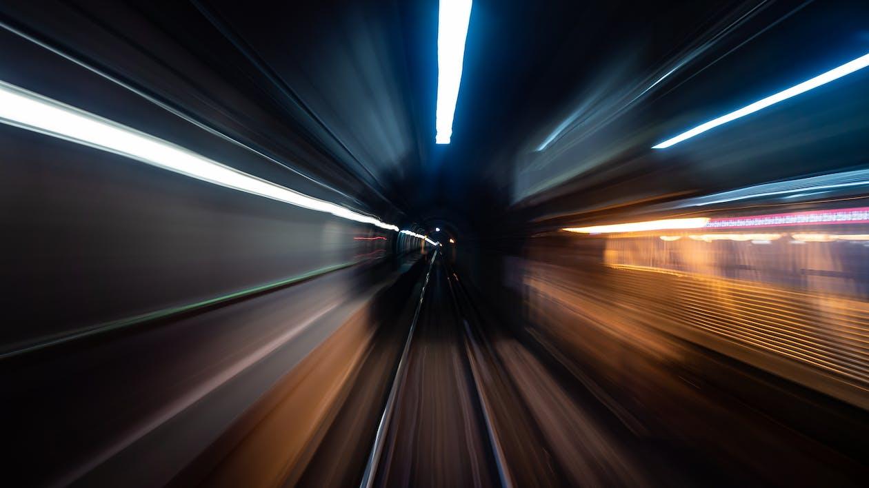 Time Lapse Photo Of Railway