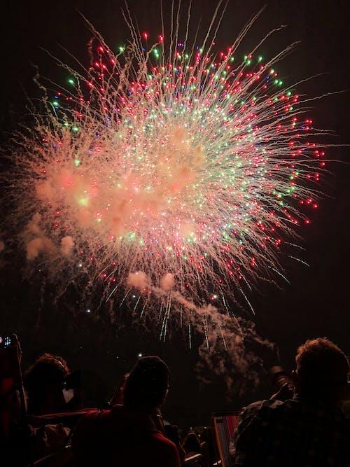 Fotos de stock gratuitas de 4 de julio, cielo nocturno, fuegos artificiales, noche