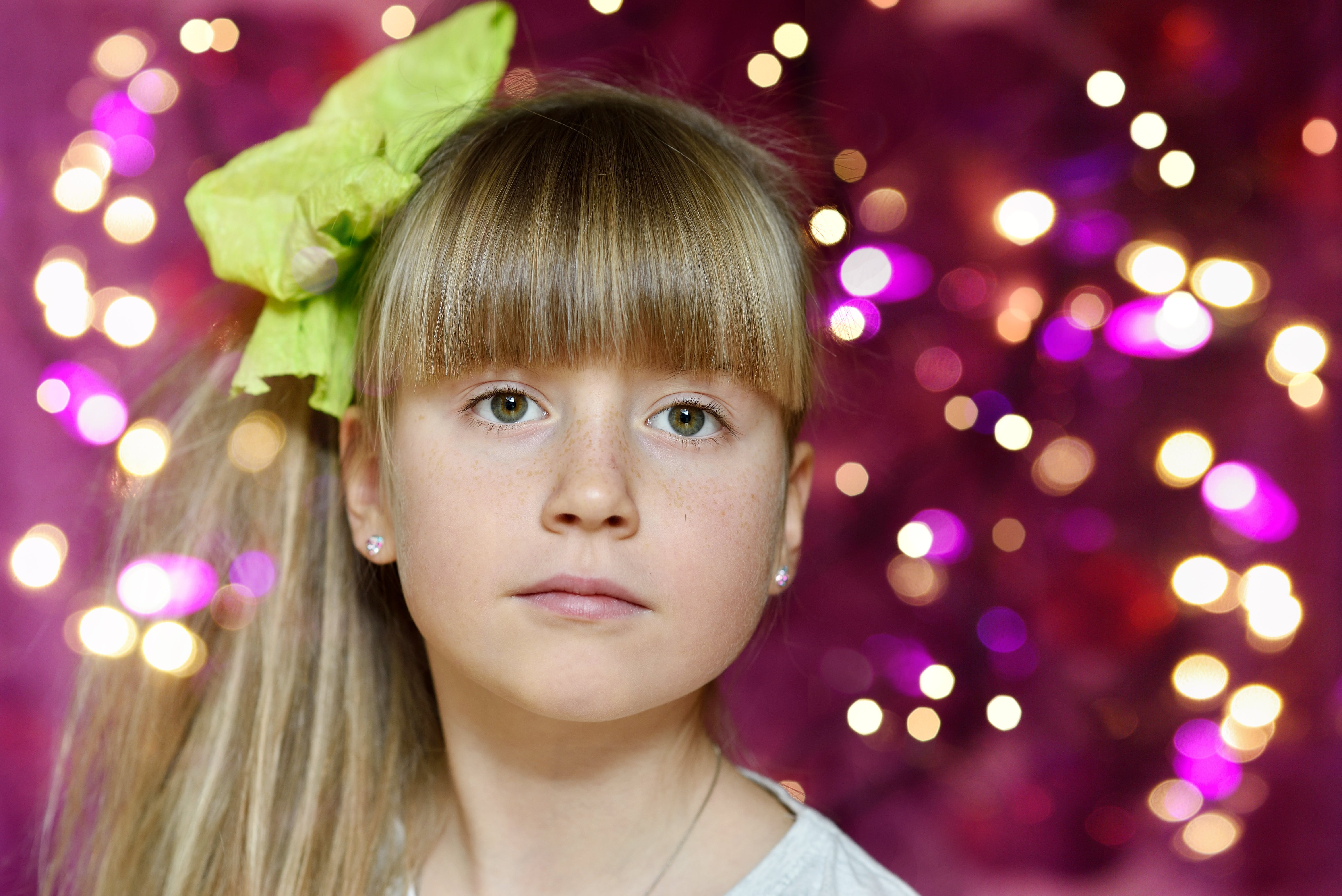 Free stock photo of blond, bokeh, child, face