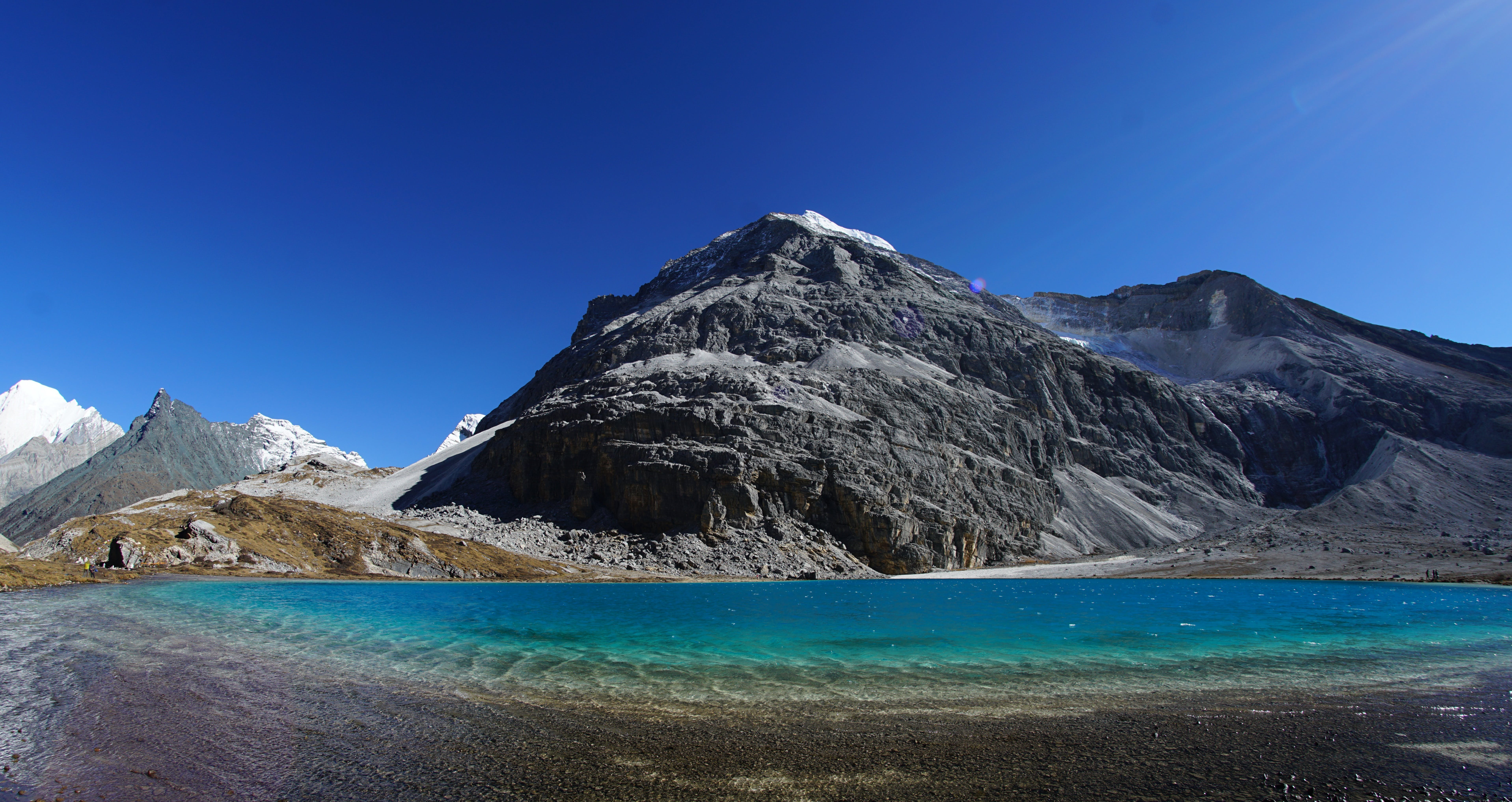 Mountain Range and Body of Water