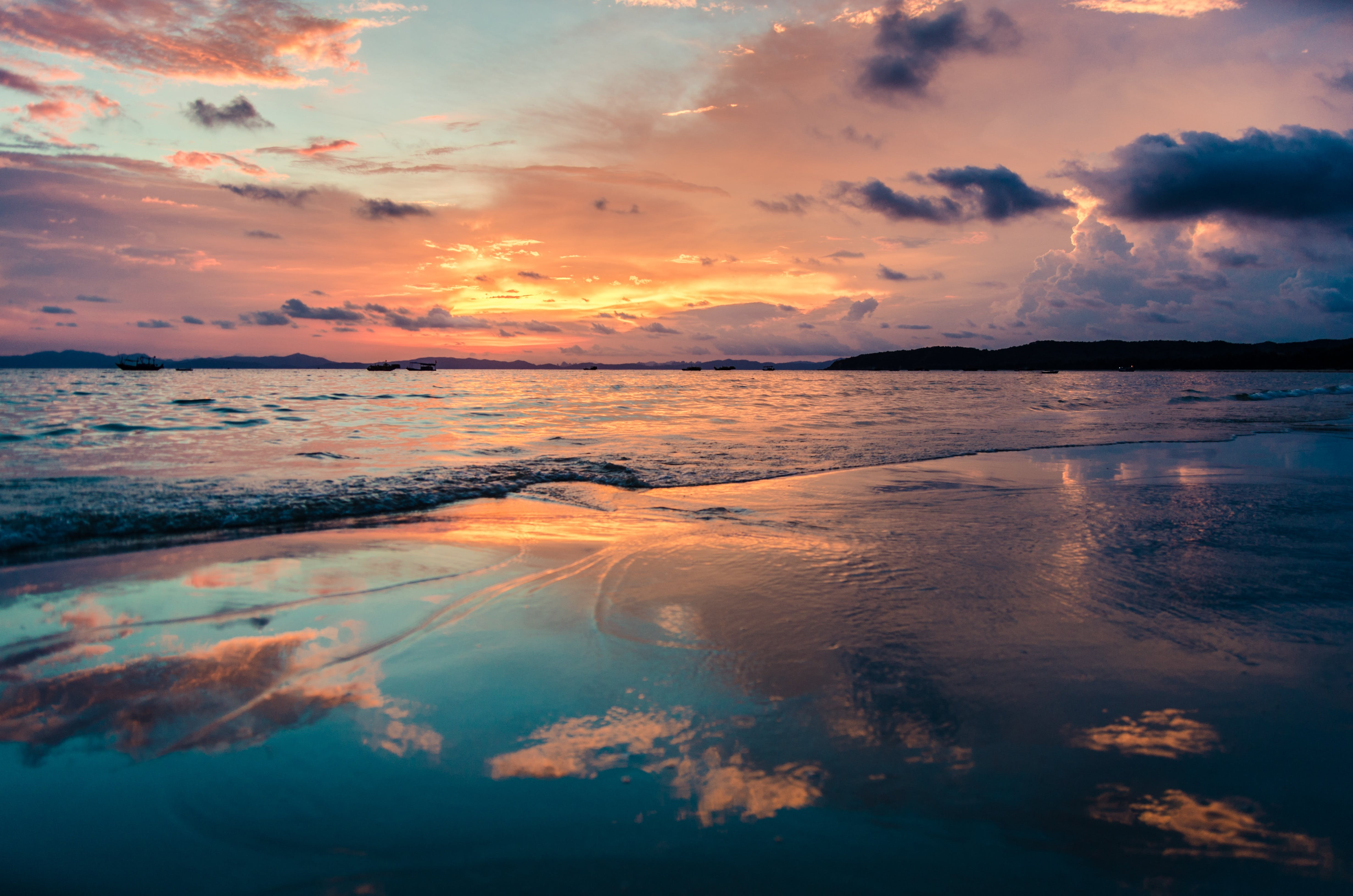 Seashore and Clouds Scenery