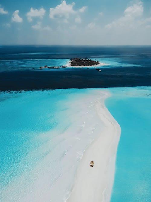 Free stock photo of beach, drone photography, island