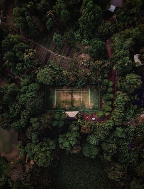 Vista Aérea De La Cancha De Tenis