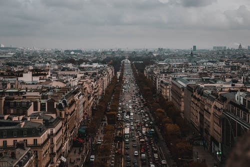 Free stock photo of aerial, city, cityscape, france