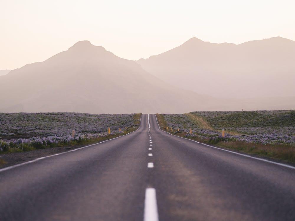 асфальт, горы, дорога