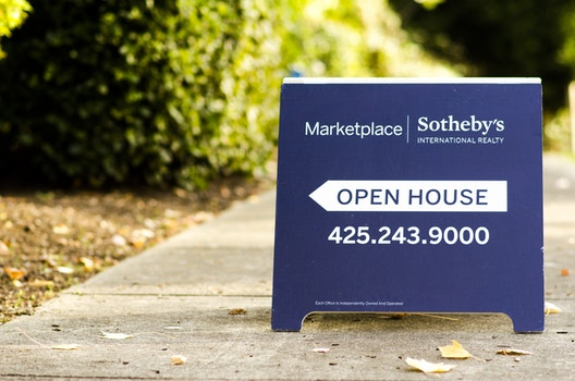 Free stock photo of blue, sign, house, business