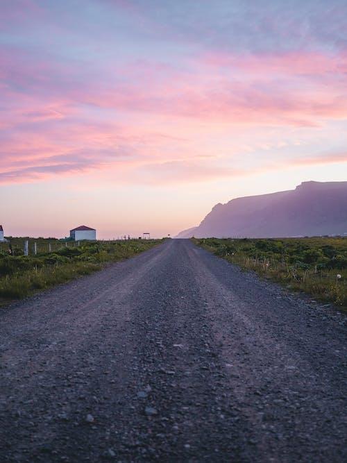 晚間, 碎石, 碎石路, 空路 的 免費圖庫相片