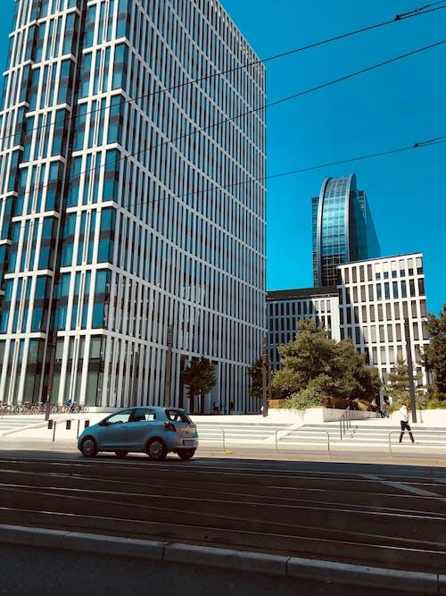 Ilmainen kuvapankkikuva tunnisteilla arkkitehdin suunnitelma, arkkitehtuuri, auto, Frankfurt