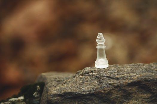 Free stock photo of glass, macro, chess, chess pieces