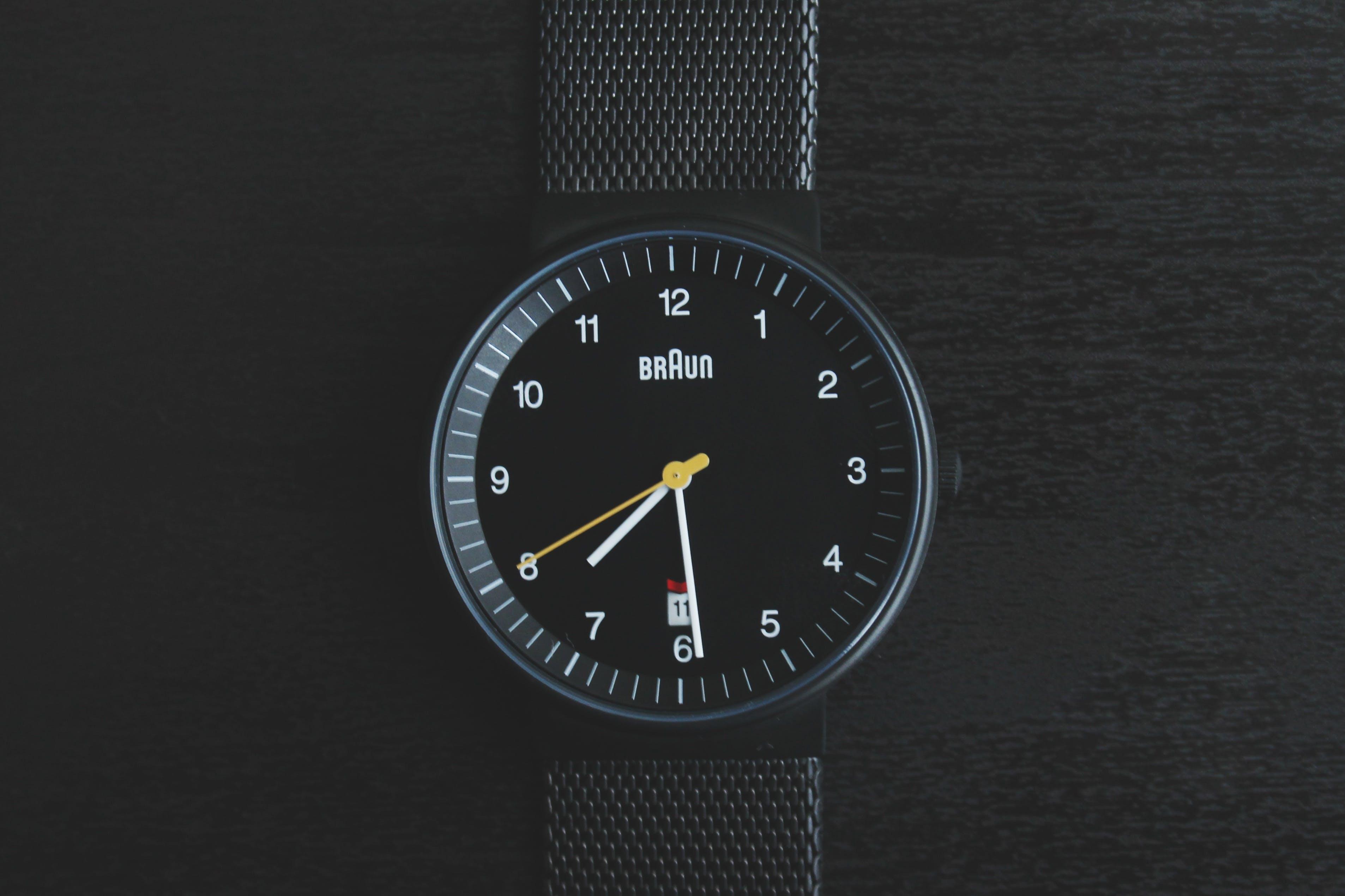 alarm, Analogue, black
