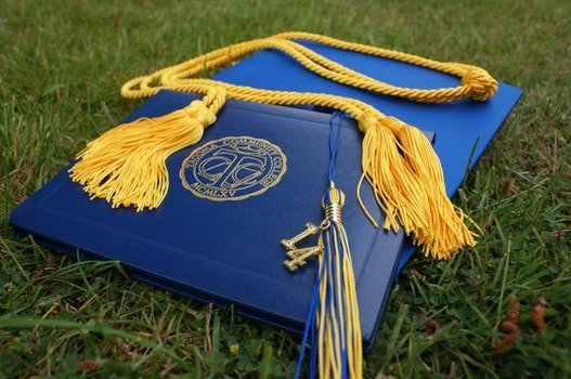 Free stock photo of school, grass, hat, ceremony
