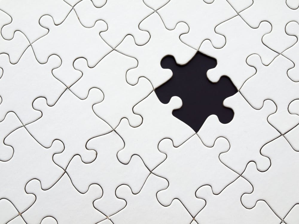 White Jigsaw Puzzle Illustration