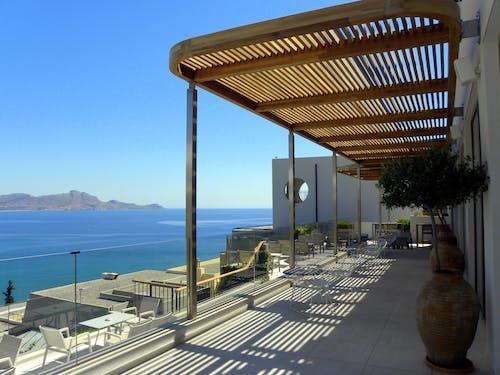 Ilmainen kuvapankkikuva tunnisteilla hotelli, kreikan saari, merinäköala