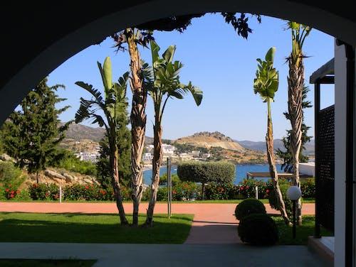 Ilmainen kuvapankkikuva tunnisteilla hotelli, kreikan saari, lahti, merinäköala
