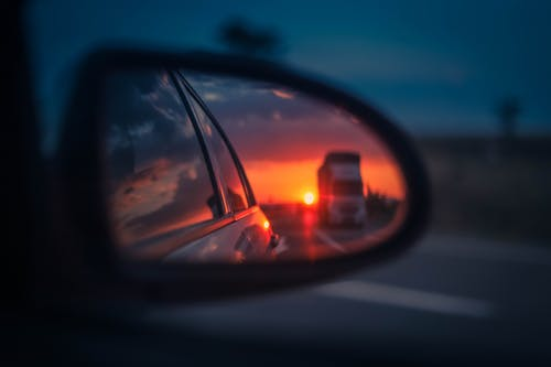 Free stock photo of car, car mirror, car travel, mirror