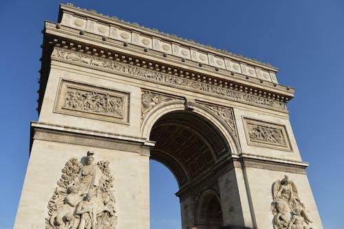 คลังภาพถ่ายฟรี ของ ซุ้มประตู, ประตูชัย, ประวัติศาสตร์, ปารีส