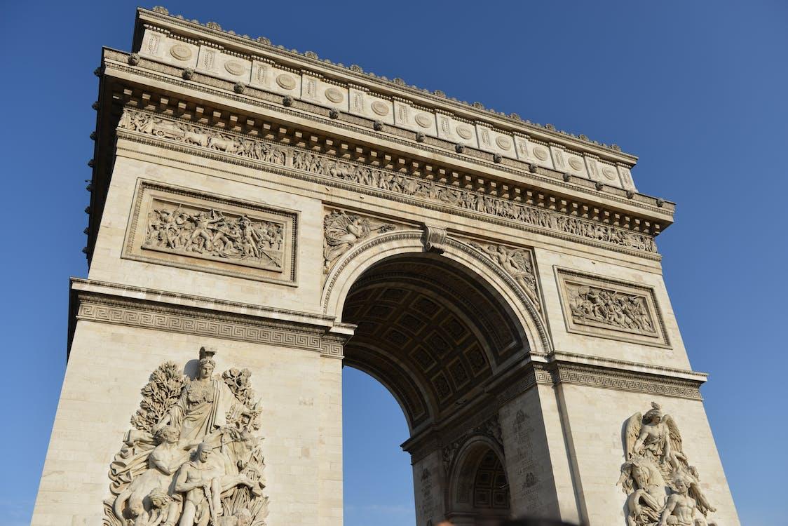 arc, arc de triomphe, architecture