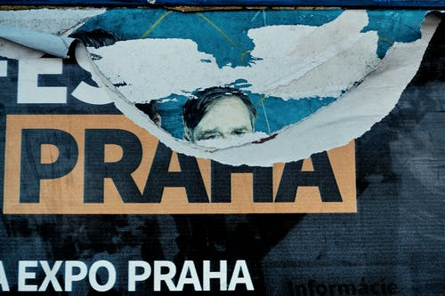 Free stock photo of advertising, eyes, prague, praha
