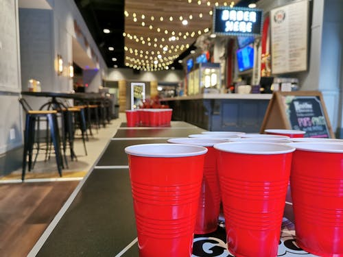Free stock photo of bar, beer pong, college