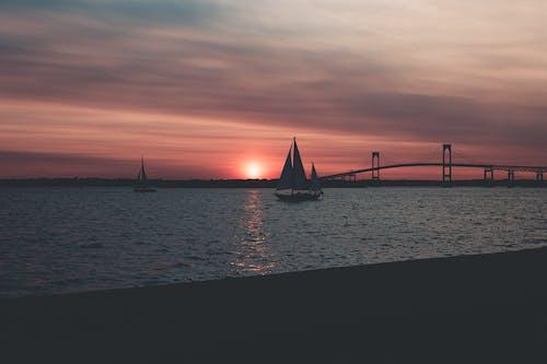 Ảnh lưu trữ miễn phí về bầu trời, bầu trời màu cam, bến tàu, biển