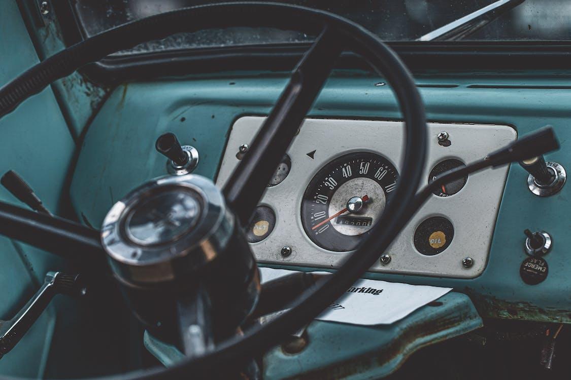 automobile, classique, compteur