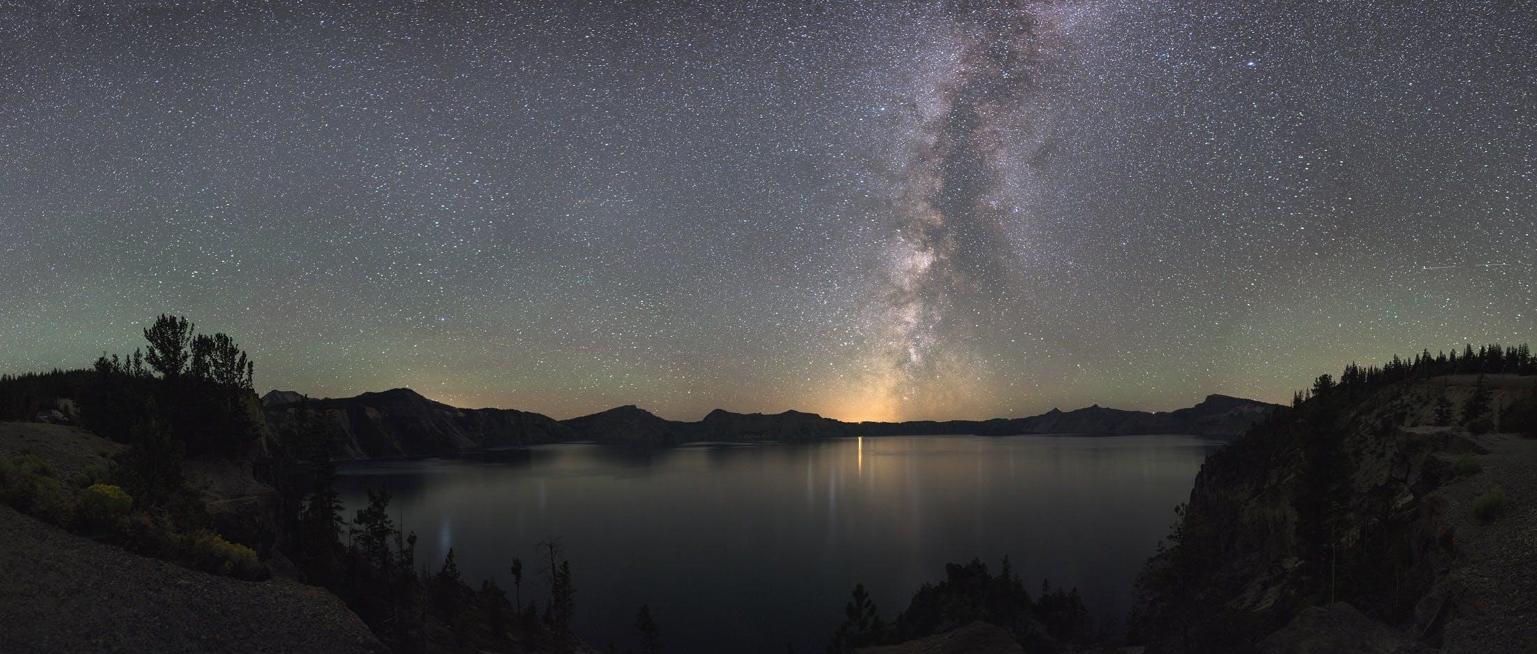 aften, astronomi, bjerg