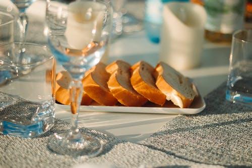 Photos gratuites de aliments, dîner, lunettes, pain