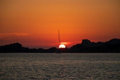 Photos gratuites de baie, coucher de soleil, eau, italie