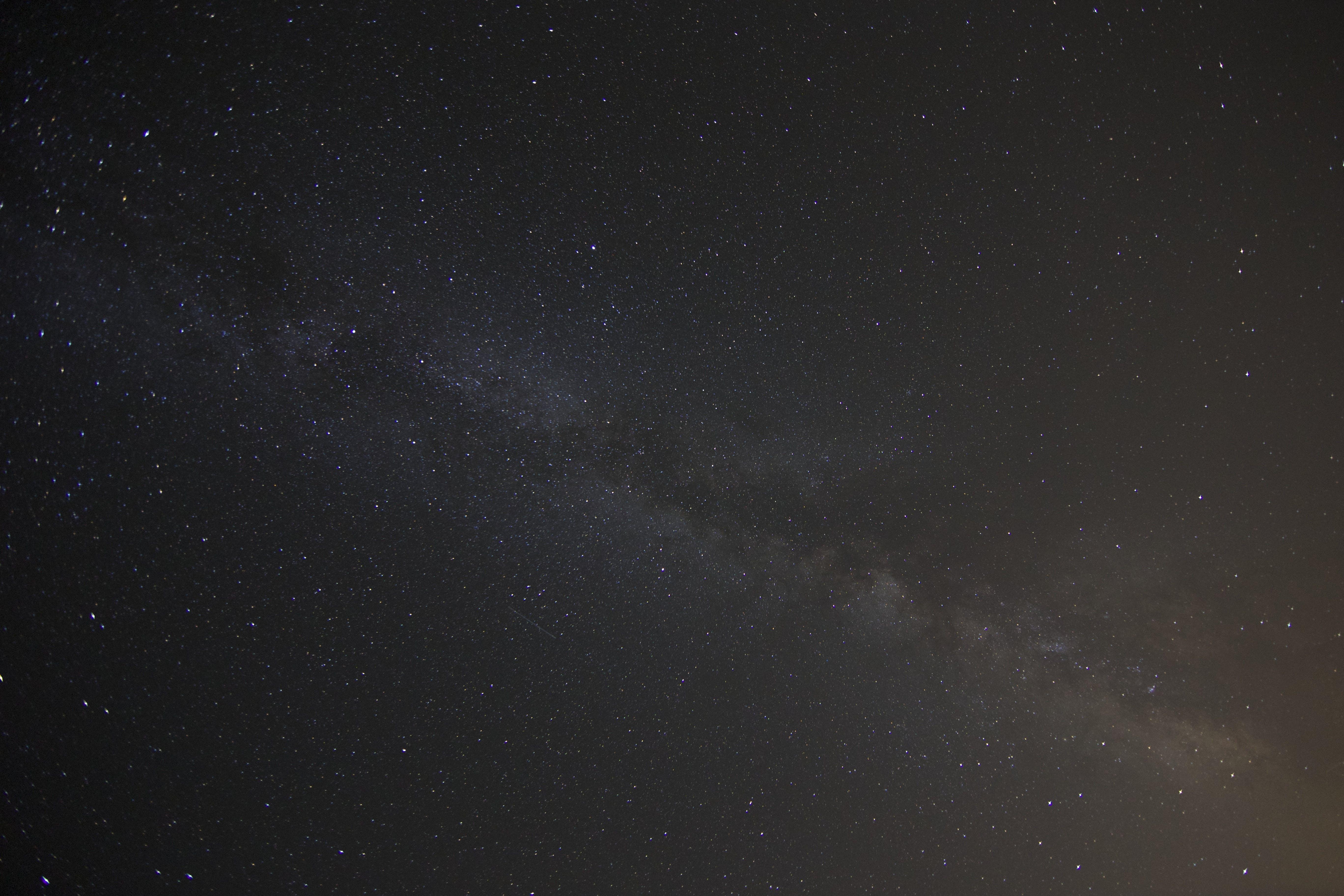 White Starry Dark Sky during Nighttime