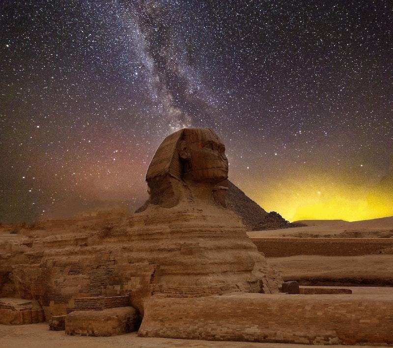 See the Pyramids of Giza
