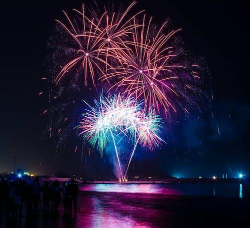 Základová fotografie zdarma na téma jasný, noc, ohňostroje, oslavy