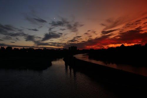 Ilmainen kuvapankkikuva tunnisteilla auringonlasku, ilta, joki