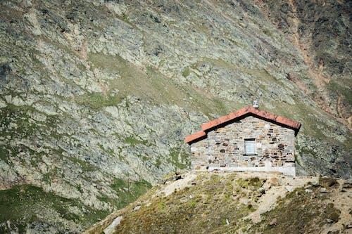 Free stock photo of house, hut, landscape, mountains