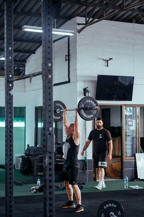 antrenament, bărbat, echipament de fitness