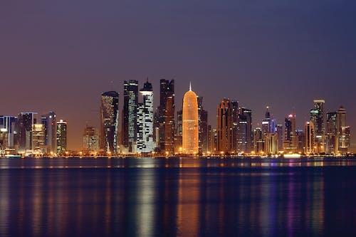 Ảnh lưu trữ miễn phí về các tòa nhà, cảnh quan thành phố, đêm, đường chân trời