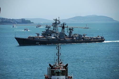Foto profissional grátis de navio de guerra russo