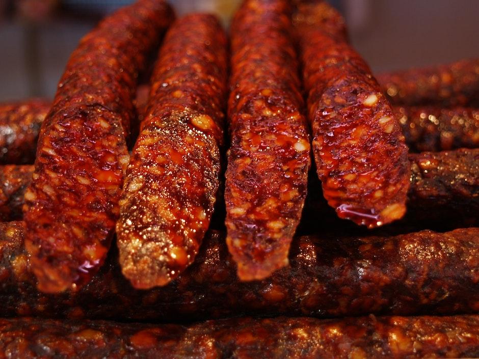 barbecue, beef, bratwurst