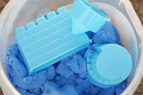 Free stock photo of blue, bucket, castle