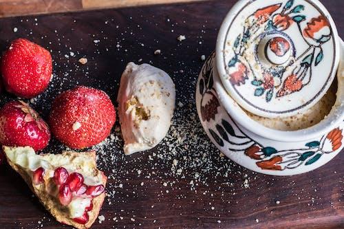 Imagine de stoc gratuită din borcan, căpșună, cremă, delicios